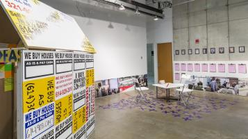 Installation view of The City Remembers. Exhibition