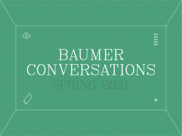 Spring 2021 Baumer Conversations graphic